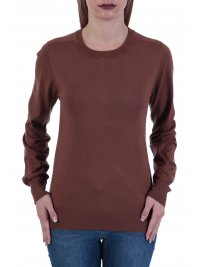 TRUSSARDI JEANS TRUSSARDI ΠΛΕΚΤΟ ΜΜ SWEATER ROUNDNECK VISCOSE STRECH REGL ΚΑΦΕ