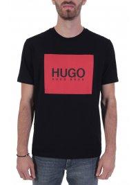HUGO HUGO T-SHIRT DOLIVE _U204 ΜΑΥΡΟ