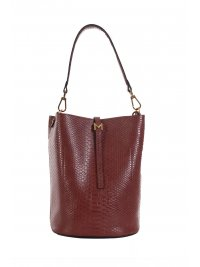 MARELLA MARELLA ACCESSORI  ΤΣΑΝΤΑ ΩΜΟΥ CROSS BODY BUCCI KLIPS ΚΡΟΚΚΟ  ΚΑΦΕ