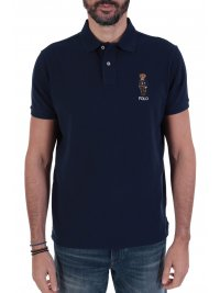 RALPH LAUREN RALPH LAUREN POLO LOGO BEAR CUSTOM SLIM FIT  ΜΠΛΕ