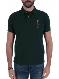 RALPH LAUREN RALPH LAUREN POLO LOGO BEAR CUSTOM SLIM FIT ΠΡΑΣΙΝΟ