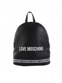 LOVE MOSCHINO LOVE MOSCHINO ΤΣΑΝΤΑ BACKPACK LOGO ΜΑΥΡΟ