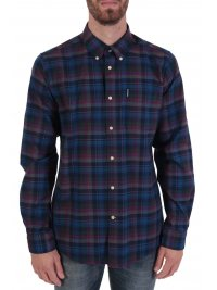 BARBOUR BARBOUR ΠΟΥΚΑΜΙΣΟ HIGHLAND BUTTON DOWN TAILORED FIT ΚΑΡΩ ΜΠΛΕ-ΚΟΚΚΙΝΟ
