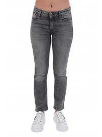 TRUSSARDI JEANS TRUSSARDI ΠΑΝΤΕΛΟΝΙ JEANS 5 POCKET KICK DENIM AUTHENTIK BLACK SMOKE ΜΑΥΡΟ