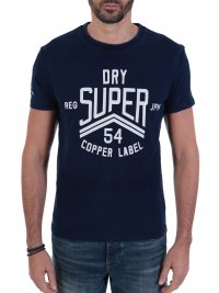 SUPERDRY SUPERDRY T-SHIRT COPPER LABEL ΜΠΛΕ