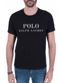RALPH LAUREN RALPH LAUREN SLEEP TOP T-SHIRT ΜΕ ΛΟΓΟΤΥΠΟ ΜΑΥΡΟ