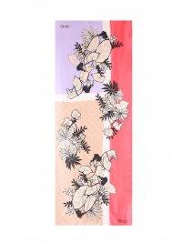 LIU-JO LIU-JO ΦΟΥΛΑΡΙ ALLOVER FLOWER PRINT LOGO MULTICOLOR ΚΟΡΑΛΙ