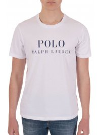 RALPH LAUREN RALPH LAUREN SLEEP TOP T-SHIRT ΜΕ ΛΟΓΟΤΥΠΟ ΛΕΥΚΟ