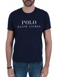 RALPH LAUREN RALPH LAUREN SLEEP TOP T-SHIRT ΜΕ ΛΟΓΟΤΥΠΟ NAVY ΜΠΛΕ
