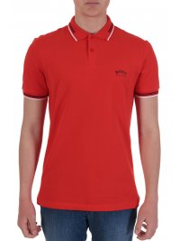 BOSS  BOSS ATHLEISURE POLO SLIM FIT PAUL CURVED ΚΟΡΑΛΙ