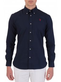 U.S. POLO ASSN US POLO ASSN ΠΟΥΚΑΜΙΣΟ KUSTAVI REGULAR FIT BUTTON DOWN NAVY ΜΠΛΕ