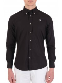 U.S. POLO ASSN US POLO ASSN ΠΟΥΚΑΜΙΣΟ KUSTAVI REGULAR FIT BUTTON DOWN ΜΑΥΡΟ