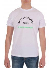 KARL LAGERFELD KARL LAGERFELD T-SHIRT  LOGO 21RUE ST-GUILLAUME  ΛΕΥΚΟ