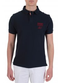 BARBOUR BARBOUR INTERNATIONAL POLO LOGO ΜΠΛΕ