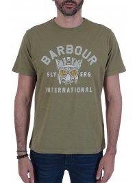 BARBOUR BARBOUR INTERNATIONAL T-SHIRT LOGO UNDERSTEER ΧΑΚΙ