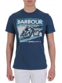 BARBOUR BARBOUR INTERNATIONAL T-SHIRT LOGO ARCHIVE DOWNFORCE ΡΑΦ ΜΠΛΕ