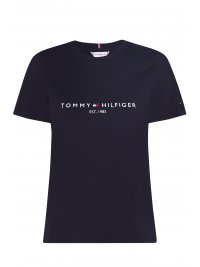 TOMMY HILFIGER TOMMY HILFIGER T-SHIRT NEW THE SS HILFINGER C-NECK TEE ΜΠΛΕ
