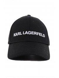 KARL LAGERFELD KARL LAGERFELD  ΚΑΠΕΛΟ ESSENTIAL LOGO CAP ΜΑΥΡΟ