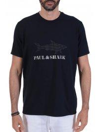 PAUL&SHARK PAUL&SHARK T-SHIRT LOGO DOTS ΜΠΛΕ