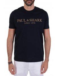 PAUL&SHARK PAUL&SHARK T-SHIRT LOGO ΜΠΛΕ