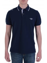 NAVY & GREEN NAVY&GREEN POLO ΠΙΚΕ  YOUNG LINE STRETCH ΜΠΛΕ