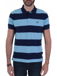 NAVY & GREEN NAVY&GREEN POLO ΡΙΓΕ YOUNG LINE TWO PLY ΜΠΛΕ - ΣΙΕΛ