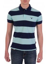 NAVY & GREEN NAVY&GREEN POLO ΡΙΓΕ YOUNG LINE TWO PLY ΜΠΛΕ - ΒΕΡΑΜΑΝ