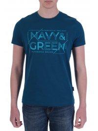 NAVY & GREEN NAVY&GREEN T-SHIRT ΜΕ ΑΝΑΓΛΥΦΟ ΤΥΠΩΜΑ ΠΕΤΡΟΛ