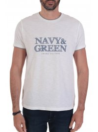NAVY & GREEN NAVY&GREEN T-SHIRT ΜΕ ΤΥΠΩΜΑ ΛΕΥΚΟ