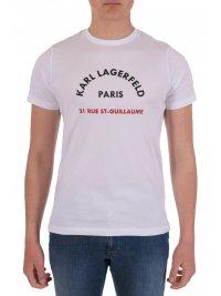 KARL LAGERFELD KARL LAGERFELD T-SHIRT CREW NECK LOGO 21 RUE ST-GUILLAUME PARIS ΛΕΥΚΟ
