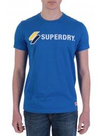 SUPERDRY SUPERDRY T-SHIRT ΜΕ ΛΟΓΟΤΥΠΟ SPORTSTYLE APPLIQUE ΜΠΛΕ ΡΟΥΑ