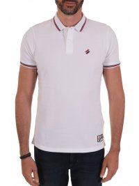 SUPERDRY SUPERDRY POLO PIQUE SPORTSTYLE TWIN TIPPED ΛΕΥΚΟ