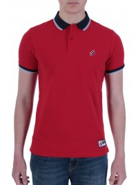SUPERDRY SUPERDRY POLO PIQUE SPORTSTYLE TWIN TIPPED ΚΟΚΚΙΝΟ