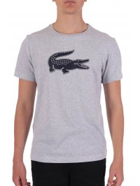 LACOSTE LACOSTE T-SHIRT ULTRA DRY  LOGO ΓΚΡΙ