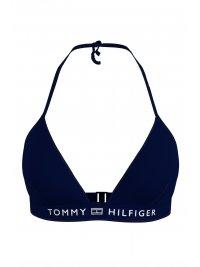TOMMY HILFIGER TOMMY HILFIGER ΜΑΓΙΩ BIKINI TOP TRIANGLE FIXED LOGO ΜΠΛΕ