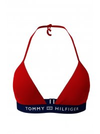TOMMY HILFIGER TOMMY HILFIGER ΜΑΓΙΩ BIKINI TOP TRIANGLE FIXED LOGO ΚΟΚΚΙΝΟ