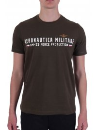 AERONAUTICA MILITARE AERONAUTICA MILITARE T-SHIRT LOGO AM-23 FORCE PROTECTION  ΧΑΚΙ