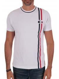 LACOSTE LACOSTE T-SHIRT HERITAGE FRENCH SPORTING ΛΕΥΚΟ