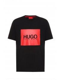 HUGO HUGO T-SHIRT DOLIVE214 ΜΑΥΡΟ