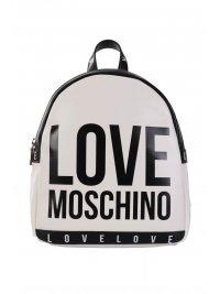 LOVE MOSCHINO LOVE MOSCHINO ΤΣΑΝΤΑ BACKPACK ΜΕ ΛΟΓΟΤΥΠΟ ΜΑΥΡΟ/ΛΕΥΚΟ