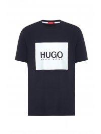HUGO HUGO T-SHIRT DOLIVE214 ΣΚΟΥΡΟ ΜΠΛΕ
