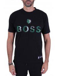 BOSS  BOSS T-SHIRT TBASKET_2 NBA CAPSULE BOSTON CELTICS ΜΑΥΡΟ