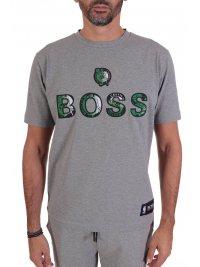 BOSS  BOSS T-SHIRT TBASKET_2 NBA CAPSULE  BOSTON CELTICS  ΓΚΡΙ