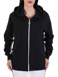 ICE PLAY ICE PLAY ΦΟΥΤΕΡ FULLZIP HOODIE  BUTTONS ΜΑΥΡΟ-ΛΕΥΚΟ