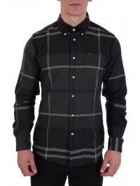 BARBOUR BARBOUR ΠΟΥΚΑΜΙΣΟ DOWN TAILORED FIT DUINOON ΚΑΡΩ ΑΝΘΡΑΚΙ